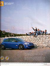 RENAULT MEGANE SPORT 225 Car ADVERT - 2006 Advert on paper ideal for Framing
