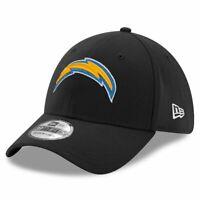 Los Angeles Chargers New Era NFL Team 39THIRTY Flex Fit Curve Hat - Black