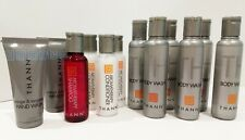 12 thann travel bath shower bottles, body wash, conditioner, shampoo, hand wash