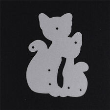 Cat Animal Stencil Cutting Dies DIY Album Card Diary Embossing Template New
