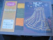 Vintage Wonder Art Creative needle crafts Afghan crochet kit rick rack pattern