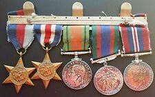 ORIGINAL 5 British Canada WW2 1939-1945 Star, France Germany, War Medals
