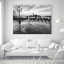 Venice Cityscape Vintage Art Silk Canvas Poster Black And White Paint Decor A100
