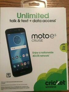 CRICKET MOTO E5 CRUISE 16Gb 4G LTE Android Smartphone BRAND NEW PREPAID