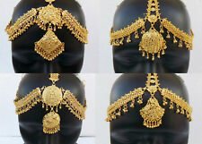 Bollywood Golden Matha Patti Ethnic Indian Jewelry Fashion Head Decoration Tikka