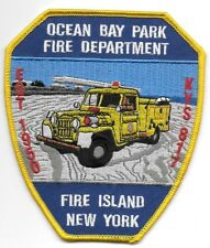 "*NEW*  Ocean Bay Park - Fire Island fire patch, NY  (4"" x 4.5"" size)  fire patch"