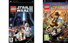 Lego Star Wars 2 The Original Trilogy & Lego Indiana Jones 2 PSP PAL