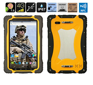 """HUGEROCK 7.0"""" 4G LTE Rugged Smartphone Tablet PC Android 7.0 NFC Waterproof T70"""
