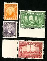 Canada Stamps # 141-4 VF OG NH Catalog Value $33.00