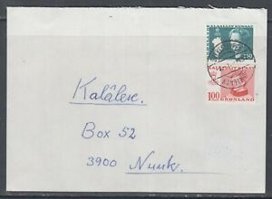"Greenland 1984. Domestic cover. Postmark ""KANGAMIUT""."