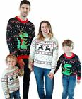 Ugly Christmas Sweater Family Matching, White-elk, Size 12.0 SrHJ