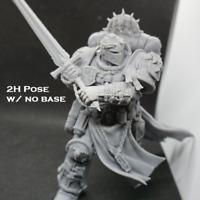 40k Miniature - Templar Champion , 2h Pose, primaris/32mm scale