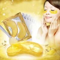 20Pcs Gold Moisturizing Skin Care Gel Collagen EYE Hydrating Face Masks  Wide
