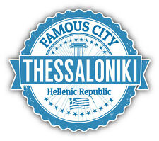 "Thessaloniki City Greece Grunge Travel Stamp Car Bumper Sticker Decal 5"" x 4"""