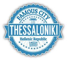 "Thessaloniki City Greece Grunge Travel Stamp Car Bumper Sticker Decal 5"" x 4"""