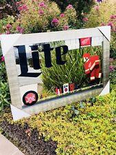 """Miller Lite Detroit Red Wings NHL Hockey Beer Bar Man Cave Mirror """"New"""""""