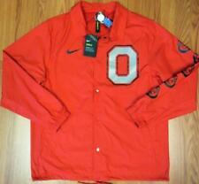 NEW Nike Scarlet Ohio State Buckeyes Shield Jacket Brutus Sleeves Size LARGE