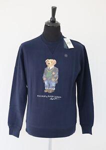 Polo Ralph Lauren Men's Bear Logo Jumper Sweatshirt Navy Limited Edition size M