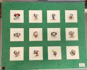 Disney Christmas L.E Etchings Sowa & Reiser, Uncut/matted. Mickey mouse, Donald+