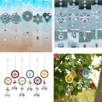 Crystal Prisms Pendant Rainbow Snow Dreamcatcher Suncatcher Kits for Window Kids