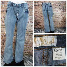 Crest Women Jeans Size 11/12 Inseam 31 Flare Leg Low Rise Acid Wash