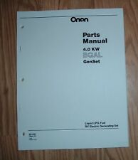 ONAN BGAL-RV  LPG GENSET (SPEC C) PARTS LIST 965-0227