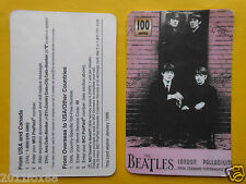 1998 phone cards 100 units beatles rare schede telefoniche 1998 telefonkarten