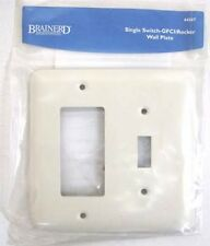 64367 Bisque Stamped Single Switch/GFCI Cover Wall Plate