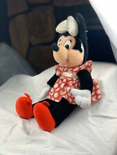 Vintage Old Disney Minnie Mouse Plush Stuffed Toy By Applause Collectible Mickey