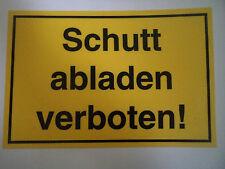Hinweisschilder Verbotsschilder Verbote Schilder Kunststoff 300x200mm
