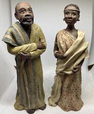 Vintage African Collection By Sarahs Attic Figurines - Shamba & Kaminda