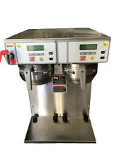 New Bunn Axiom Twin Ps Dual Coffee Brewer Stainless Steel Gray With 2 Funnels