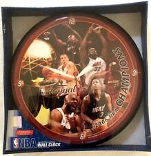 Miami Heat 2006 NBA Basketball Champions Players Round Wall Clock - FREE FLAG