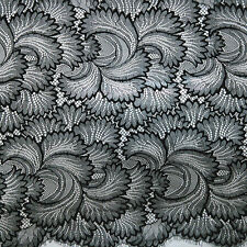 3Yards French Net Lace Fabric african tulle Black embroidery lace