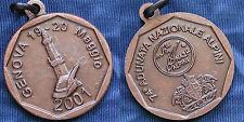 MEDAGLIA A.N.A. 74.a ADUNATA NAZIONALE DEGLI ALPINI A GENOVA ANNO 2001 BRONZO