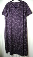 PURPLE WHITE FLORAL LADIES CASUAL PARTY STRETCHY DRESS FASHION EXTRA SIZE 20