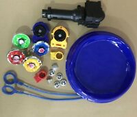 Kids Beyblade Set 2 Launcher Tips Bolts Grip With Arena Spinning Top Game New
