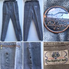 Vintage The Rusty Club Gray Rusty Lopez Jeans Sanforized 30
