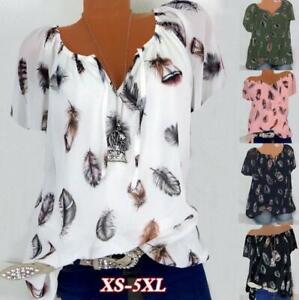 T-Shirt Plus Sleeve Tops Ladies Baggy Short V-NECK T-Shirt Size Blouse Women's