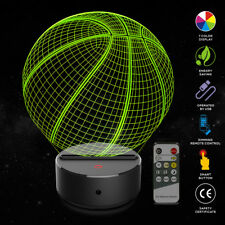 Basketball 3D Illusion Lamp 7 Color 3D Night Light Remote Control Kids Xmas Gift