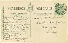 Miss V Mansel-Lewis, 33 Cheniston Gardens, Kensington, 1909   AK.1629