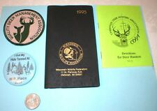 Wisconsin Whitetails Memorabilia Lot Patch, Pin, Booklets, Deer Hunting  F.Ship
