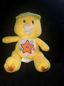 "Superstar Care Bear Bears PreOwned 9"" 2006 SR03007 Yellow Baseball Edition Hat"