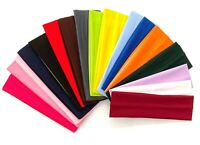 7cm Wide Plain Stretchy Fabric Headband Kylie Band Headband Hair Bandeau