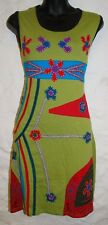 New Fair Trade Dress 8 10 Ethnic Boho Ethical Nepal Cotton Flowers Summer Beach