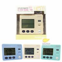 SM Dual Screen Timer Desk Stopwatch D-day Digital Time Clock Watch