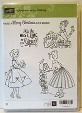 Stampin Up CHRISTMAS IN THE MAKING stamps fifties style best time of the year