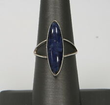 Sterling Silver Lapis Lazuli Surfboard ring 2.3 Grams Size 6