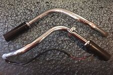Original Harley Panhead Knucklehead Split Handlebars FL Switch + Grips OEM bars