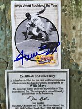 New listing Willie Mays - 1992 U.D. Baseball Heroes Autograph #46 Score Board COA and Stamp